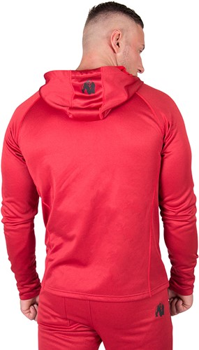 90810500-bridgeport-zipped-hoodie-red-back