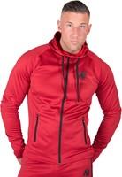 gorilla wear bridgeport zipped hoodie red model 1