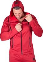 gorilla wear bridgeport zipped hoodie red model 2