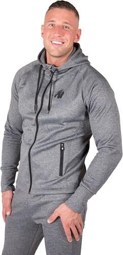 gorilla wear bridgeport zipped hoodie dark gray model 1