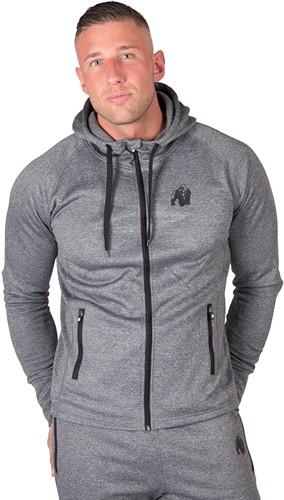 gorilla wear bridgeport zipped hoodie dark gray model 2