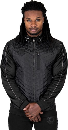 Gorilla Wear Jefferson Front Padded Jacket - Black/Gray