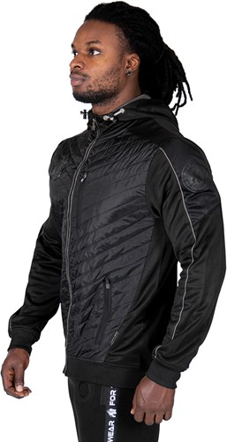 Gorilla Wear Jefferson Front Padded Jacket - Black/Gray-3