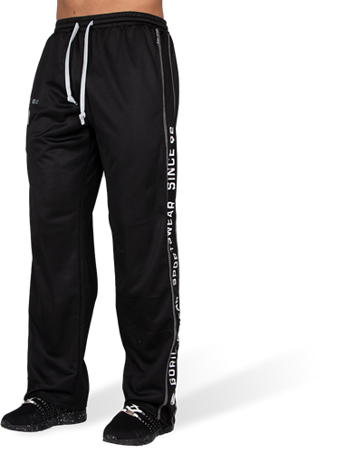 Gorilla Wear Functional Mesh Trainingsbroek - Zwart/Wit