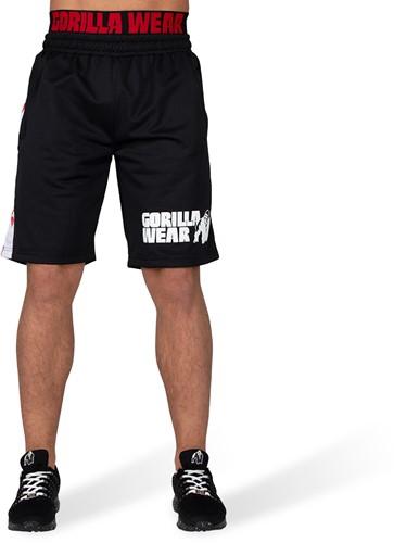 Gorilla Wear California Mesh Shorts - Zwart/Rood-2