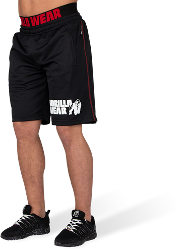 Gorilla Wear California Mesh Shorts - Zwart/Rood