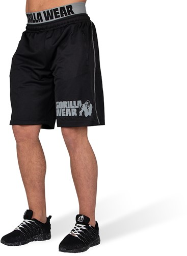 Gorilla Wear California Mesh Shorts - Zwart/Grijs