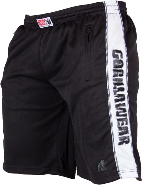 Track shorts black/white art. no: 9091290100 color: black/white quality: 100% polyester the gorilla ...