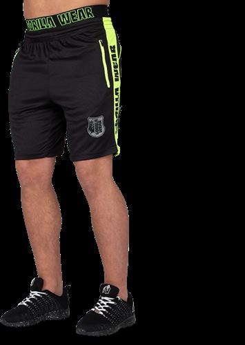 Gorilla Wear Shelby Shorts - Black/Neon Lime