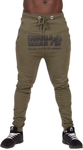 Gorilla Wear Alabama Drop Crotch Joggers - Army Green - M