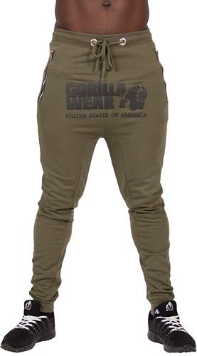 Gorilla Wear Alabama Drop Crotch Joggers - Army Green - 4XL