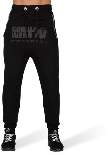 Gorilla Wear Alabama Drop Crotch Joggers - Black-2