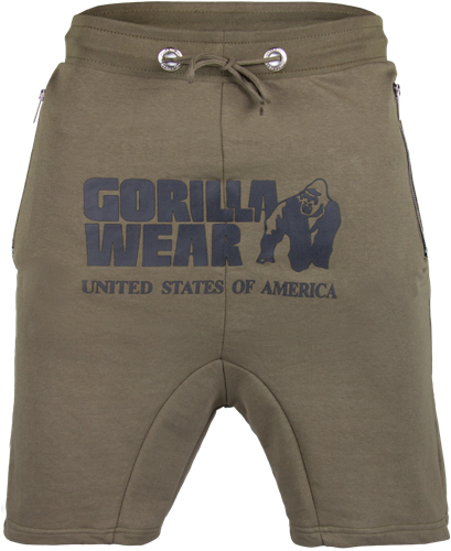 Gorilla Wear Alabama Drop Crotch Shorts - Army Green