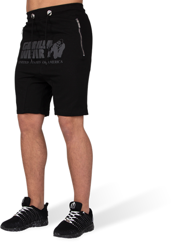 Gorilla Wear Alabama Drop Crotch Shorts - Zwart