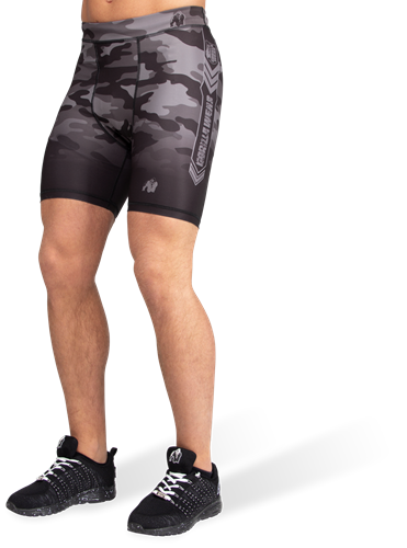 Gorilla Wear Franklin Shorts - Zwart/Grijs Camo