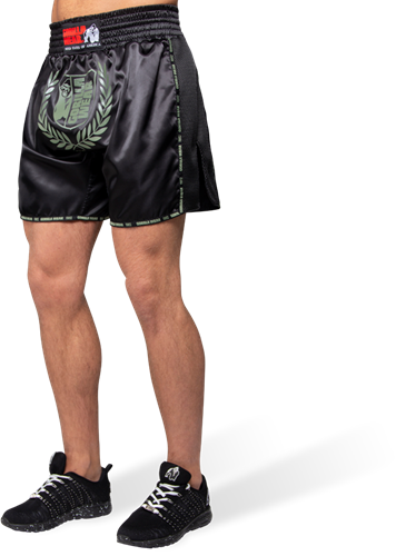 Gorilla Wear Murdo Muay Thai / Kickboxing Shorts - Legergroen