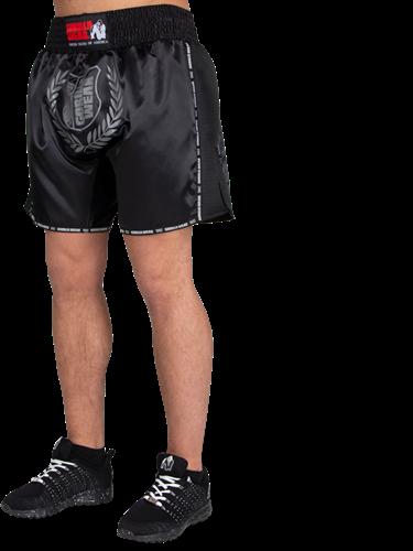 Gorilla Wear Murdo Muay Thai / Kickboxing Shorts - Zwart/Grijs