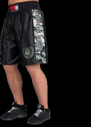 Gorilla Wear Vaiden Boxing Shorts - Legergroen Camo