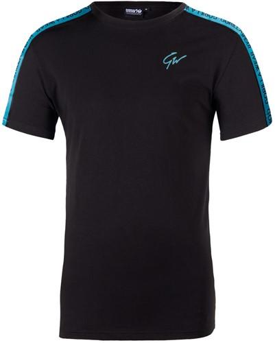 Gorilla Wear Chester T-Shirt - Zwart/Blauw