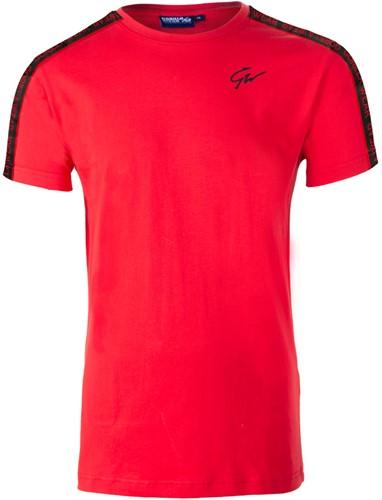 Gorilla Wear Chester T-Shirt - Rood/Zwart