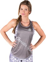 Gorilla Wear Florida Stringer Tank Top - Gray/White