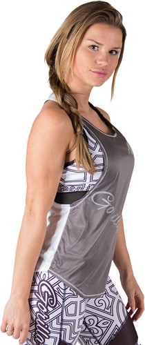 Gorilla Wear Florida Stringer Tank Top - Gray/White-2