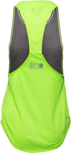 Gorilla Wear Florida Stringer Tank Top Gray/Neon Lime-2