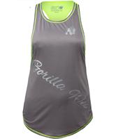 Gorilla Wear Florida Stringer Tank Top Gray/Neon Lime
