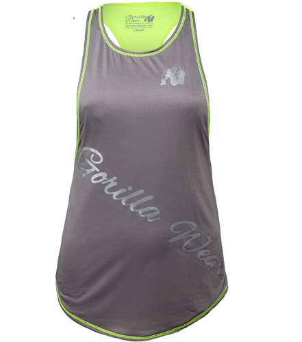 Gorilla Wear Florida Stringer Tank Top Gray/Neon Lime