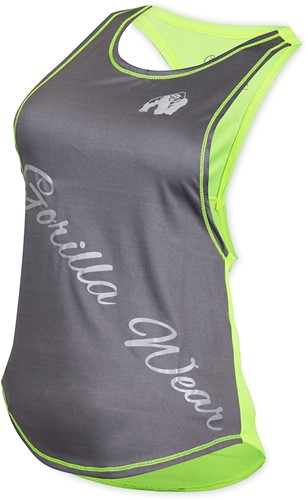 Gorilla Wear Florida Stringer Tank Top Gray/Neon Lime-2
