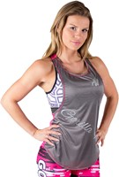 Gorilla Wear Florida Stringer Tank Top - Gray/Pink-2