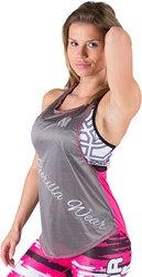Gorilla Wear Florida Stringer Tank Top - Gray/Pink
