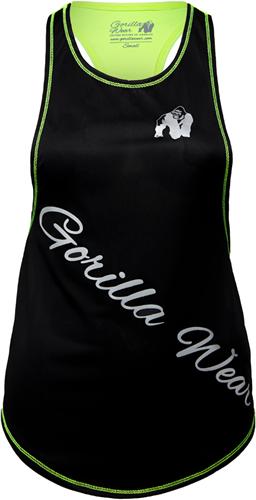 Gorilla Wear Florida Stringer Tank Top Black/Neon Lime
