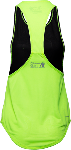 Gorilla Wear Florida Stringer Tank Top Black/Neon Lime-2