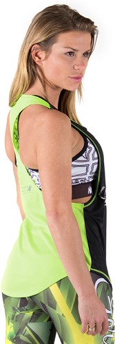 Gorilla Wear Florida Stringer Tank Top Black/Neon Lime-2