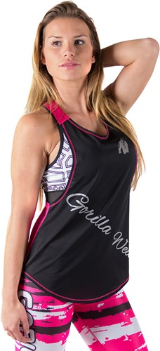 Gorilla Wear Florida Stringer Tank Top Black/Pink-3