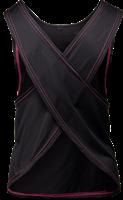 Gorilla Wear Odessa Cross Back Tank Top - Black/Pink-2
