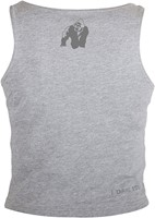 Gorilla Wear Oakland Crop Tank Gray/Neon Lime Camo-3