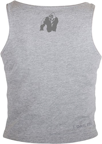Gorilla Wear Oakland Crop Tank Gray/Neon Orange Camo-3