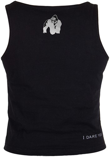 Gorilla Wear Oakland Crop Tank Black/Neon Lime Camo-3