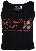 Gorilla Wear Oakland Crop Tank Black/Neon Orange Camo-2