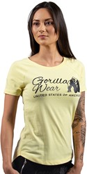 Gorilla Wear Lodi T-shirt - Light Yellow
