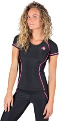 Gorilla Wear Carlin Compression Short Sleeve Top - Black/Pink