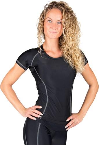 Gorilla Wear Carlin Compression Short Sleeve Top - Black Gray-3