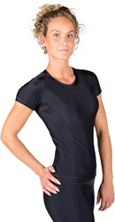 Gorilla Wear Carlin Compression Short Sleeve Top - Black/Black