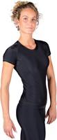 Gorilla Wear Carlin Compression Short Sleeve Top - Black/Black-3