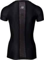 Gorilla Wear Carlin Compression Short Sleeve Top - Black/Black-2