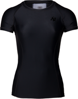 Gorilla Wear Carlin Compression Short Sleeve Top - Black/Black