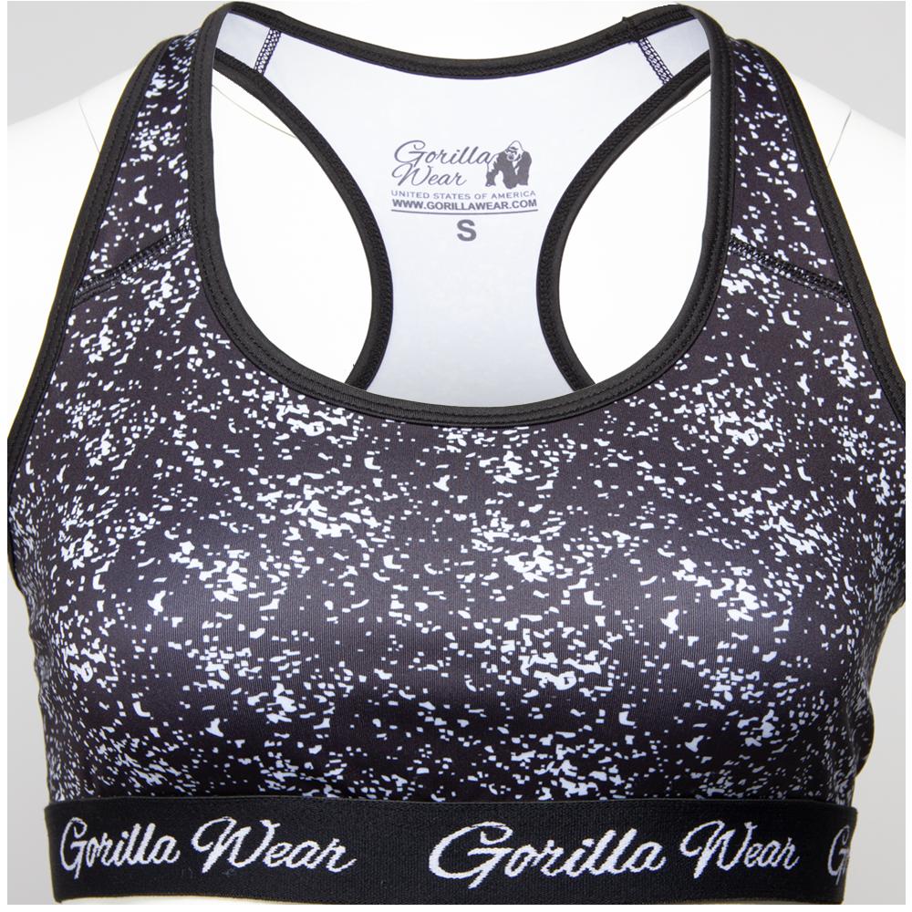 Gorilla Wear Hanna Sportbeha - Zwart/Wit - S