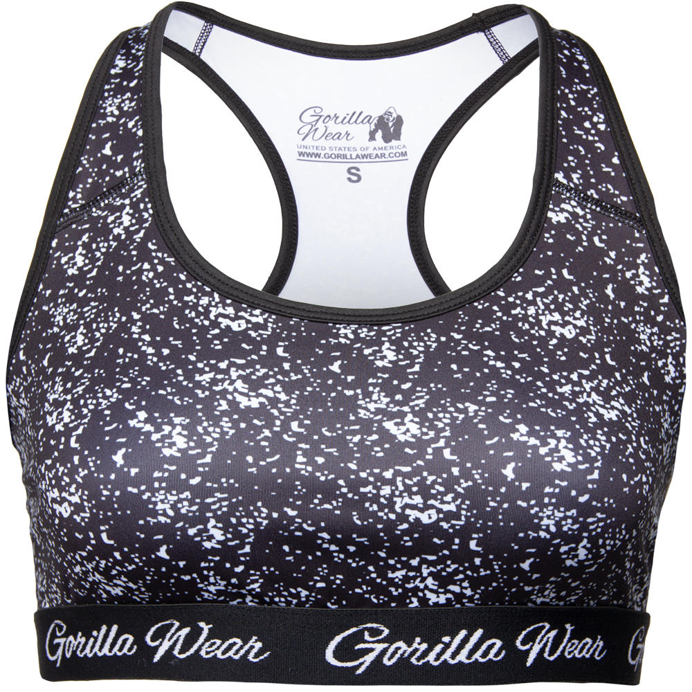 Gorilla Wear Hanna Sports Bra - Black/White - L